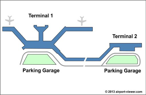 Lambert st louis international airport location parking for Location parking